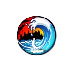 Rippin Rapids Logo with rock climber with surfer
